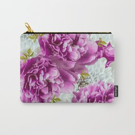 Summer bouquet of purple and white flowers #decor #society6 #buyart Carry-All Pouch