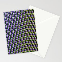 Funk techno neon glitch Stationery Cards