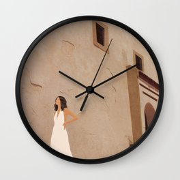 New White Dress II Wall Clock