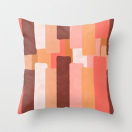 Line In Coral #society6 #abstractart Throw Pillow