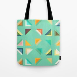 Geometric Mint Tote Bag