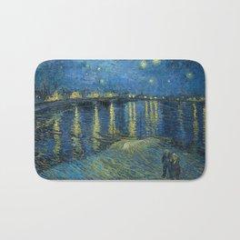 Vincent Van Gogh / Starry Night Over the Rhone Bath Mat