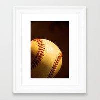 baseball Framed Art Prints featuring Baseball by Janice Sullivan
