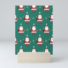 Origami Santa (Patterns Please) Mini Art Print