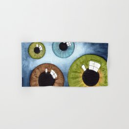 eyesolation- social distancing Hand & Bath Towel