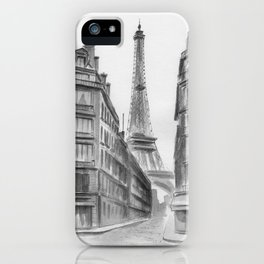 Black and white Paris. iPhone Case
