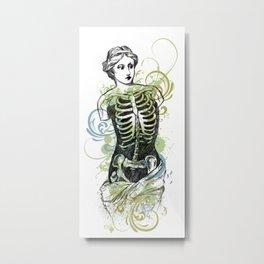 Skeleton Lady Venus Di Zombie Metal Print