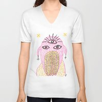 third eye V-neck T-shirts featuring Third Eye by Nü Köza
