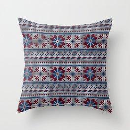Pattern in Grandma Style #18 Throw Pillow