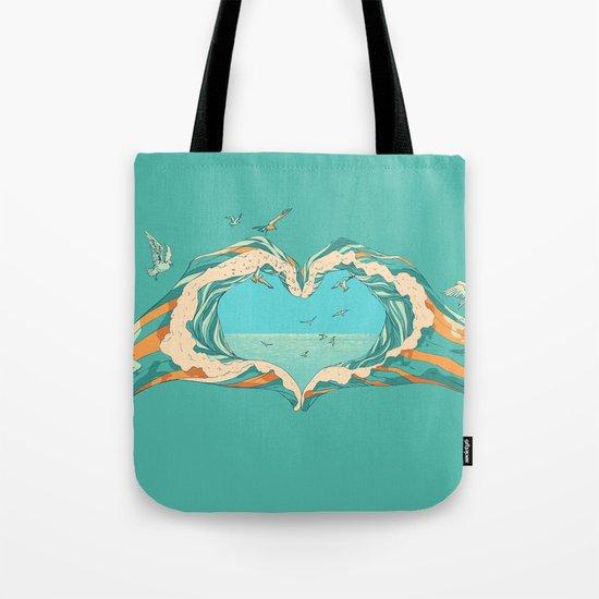 My Heart & The sea Tote Bag