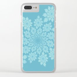 Pastel delicate leaves Clear iPhone Case