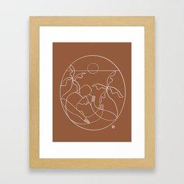 Dreamers no.5 (rust) Framed Art Print