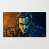 loki Canvas Prints featuring Loki by Sara Cooley