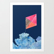 Kite Up Art Print