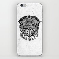 treat yo self iPhone & iPod Skins featuring TREAT YO SELF by Josh LaFayette