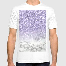 Unicorn Purple Glitter Marble T-shirt