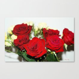 Red and yellow roses Canvas Print