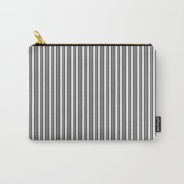 Small Black and White Piano Stripes Carry-All Pouch