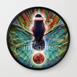 """Imagine"" by Visionary Artist Carolyn Quan Wall Clock"