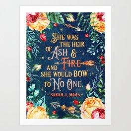 Ash & Fire Art Print