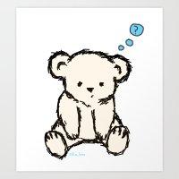 teddy bear Art Prints featuring Teddy by RaJess