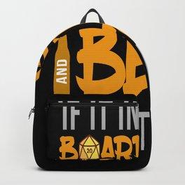 Board Games And Beer Board Game Nerd Backpack