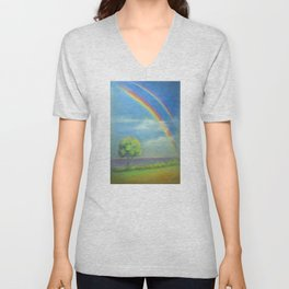 Between Heaven and Earth - painted Unisex V-Neck