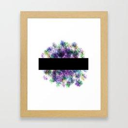Black Bar Framed Art Print