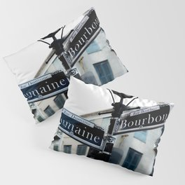 Dumaine and Bourbon - Street Sign in New Orleans French Quarter Pillow Sham