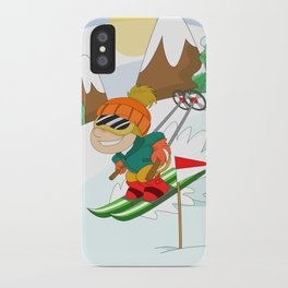 Winter Sports: Skiing iPhone Case