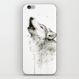 Wolf Howling iPhone Skin