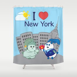 Ernest and Coraline | I love New York Shower Curtain