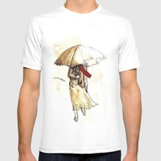 Outono White MEDIUM Mens Fitted Tee