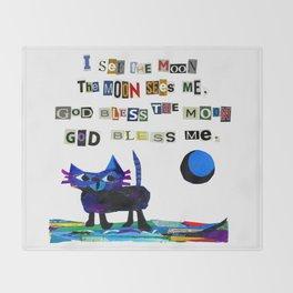 I see the moon nursery rhyme Throw Blanket