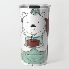 We Bare Bears inspired Birthday Party - Panda, Ice Bear, Grizzly Bear Travel Mug