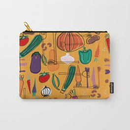 fall veggies yellow Carry-All Pouch
