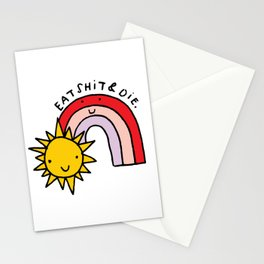 Eat Shit & Die - Sunny Stationery Cards