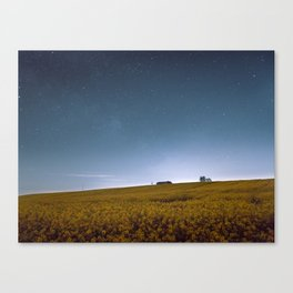 Barn Under Blue Over Yellow Canvas Print