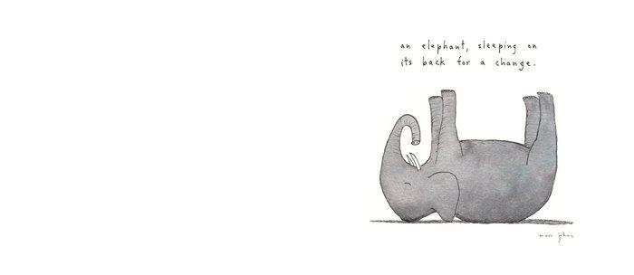 an elephant, sleeping on its back for a change Coffee Mug