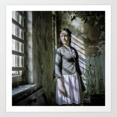 Girl by the window Art Print