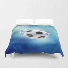 Soccer Water Splash Duvet Cover