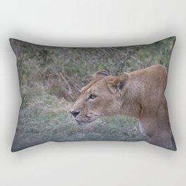 Prowling Lioness Rectangular Pillow