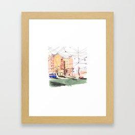 City wires Framed Art Print