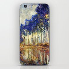 Poplars on the Bank of the Epte River by Claude Monet iPhone & iPod Skin