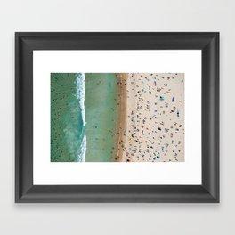 Bondi Stripe Framed Art Print