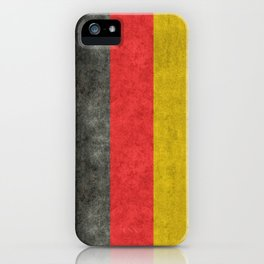 German Flag in distressed grunge iPhone Case