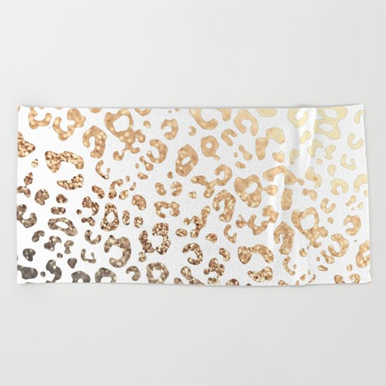 GOLD HEART LEO Beach Towel