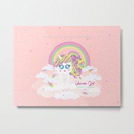 Unicorn Girl Metal Print