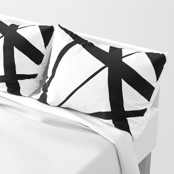A Harmony of Lines and Shapes Pillow Sham