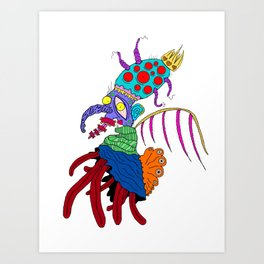 parasite head Art Print